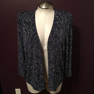 Alex Evenings Mother of the Bride Groom Formal Jacket Women's Plus Size 14W 14