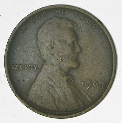 1st Year - Rare V.D.B. 1909 Lincoln Wheat Cent - Over 100 Years Old! *156