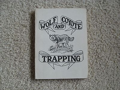 Wolf and Coyote  Trapping Book