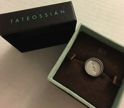 RT by Tateossian Round Bronze Plated Mechanical  Pendulum Tie Pin Tack New NIB
