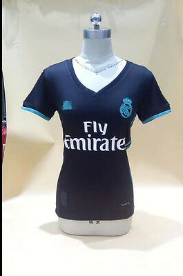 17-18 Real Madrid away Women Soccer Jersey Short sleeve