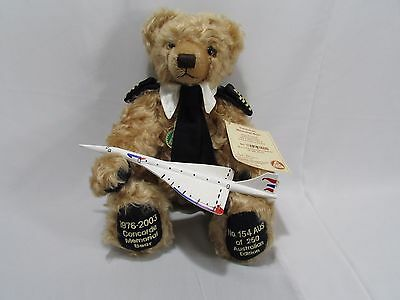 Rare Hermann Concorde Bear Limited Australian Edition No.154 with Concorde Model