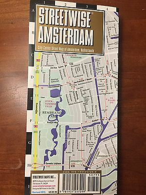 NEW! Streetwise Amsterdam, Netherlands City Center Street Travel Map RARE!