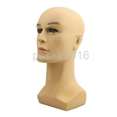 Male Mannequin Manikin Head Model Wig Cap Glasses Scarves Display Stand