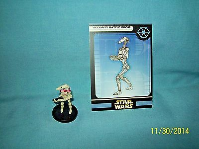 WotC Star Wars Miniatures Security Battle Droid, Clone Strike 46/60, Sep, Common