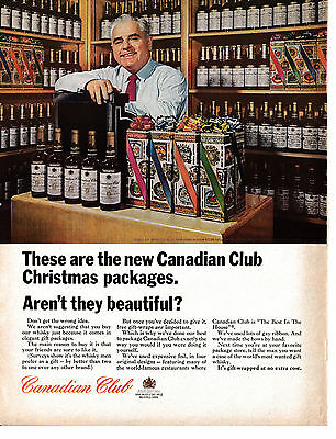 1964 Canadian Club-Christmas Packages-Gift Wrap-Original 10.5 x 13.5 Magazine Ad