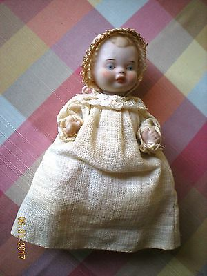 """Antique All Bisque 5"""" Baby Doll"""