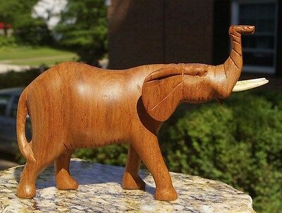 Hand Carved Elephant Figure Statue Wooden Statue Sculpture African Art