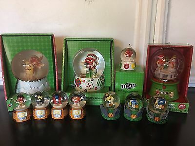M&M's * #16 Lot of 11 Assorted M&M's Snow Globes M&Ms