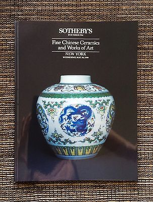 LIKE NEW 1990 Sotheby's Fine Chinese Ceramics and Works of Art Auction Catalog