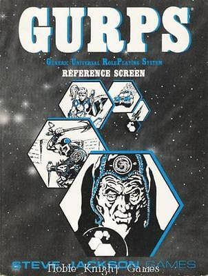 Steve Jackson GURPS 1st-3rd Ed Reference Screen (2nd Edition) Zip NM-