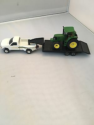 1/64 Ertl John Deere Dealership Ford F350 W/ 6420 Tractor & Trailer Set