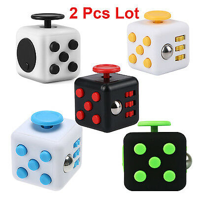 2X Fidget Cube EDC Toys Relieves Stress and Anxiety for Children and Adults