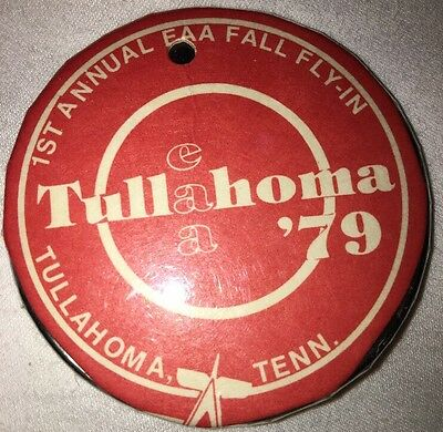 Vintage 1979 Tullahoma First Annual Faa Fall Flying Button