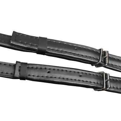 Deluxe Black Thick Accordion Leather Shoulder Straps Accordion Accessories
