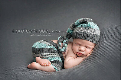 Newborn Baby Girl Crochet Knit Clothes Photo Photography Prop Costume Hat #3