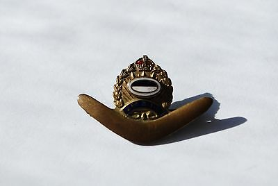 WW2 2nd AIF sweetheart badge boomerang with colour patch