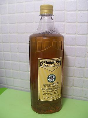 Starbucks Vanilla Syrup 33.8 Fl oz Fresh Bottle 1 Liter No Pump Free Ship US 48