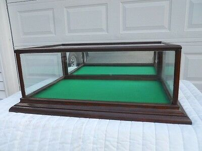 ANTIQUE GENERAL STORE OAK COUNTER TOP DISPLAY/SHOWCASE with BACK MIRROR