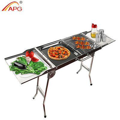 Portable Folding Barbecue Stove Camping Oven Outdoor Grill Household Hiking APG