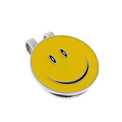 Sturdy Smile Face Magnetic Hat Clip Golf Ball Markers Fit for Golf Cap Visor