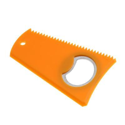 Yellow Surf Surfboard Wax Comb with Bottle Opener for SUP Kite Wake Board