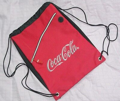 Coca Cola Drawstring Red Backpack