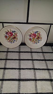 Pair of (C51) Royal Worcester Floral Pin/Change Dishes