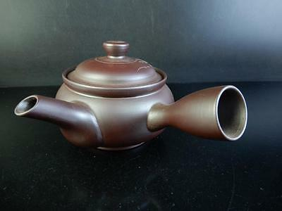 C7540: Japanese Banko-ware Flower sculpture TEAPOT Shunsui made
