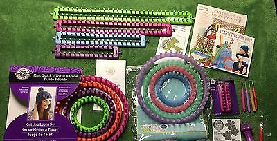 Lot of 14 Knitting Looms & Guidebooks