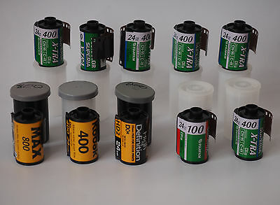 EXPIRED 35mm colour film ... 10 assorted rolls. Lomo Lomography