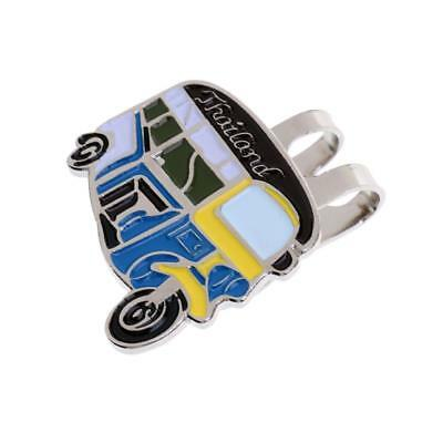 Stylish Pedicab Pattern Magnet Hat Clip Golf Ball Markers Fit for Cap Visor
