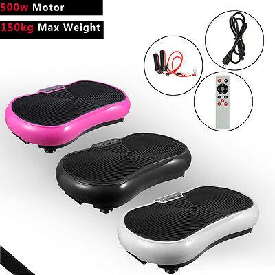 500W Crazy Fitness Machine Vibration Plate Massage Exercise Platform Home Gym