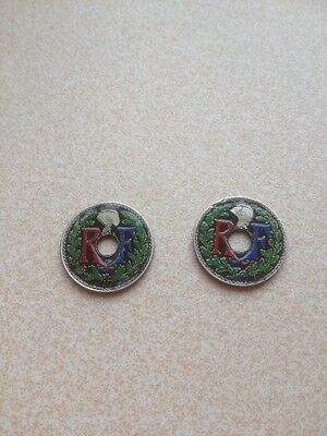 Hand Painted Coins French X2