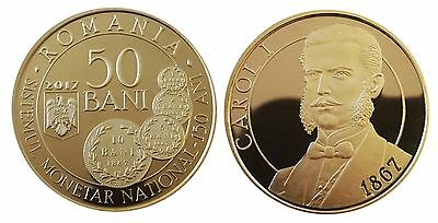 Romania 50 Bani 2017 150 Years Since The New Monetary System Unc Proof Coin