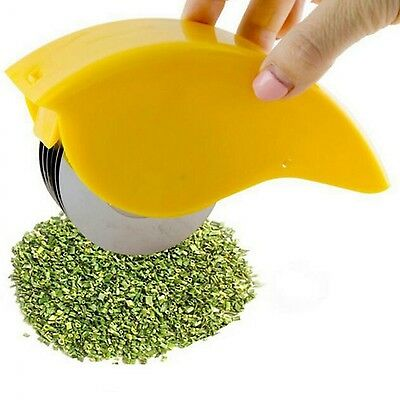 Herbal Slicer Rolling Mincer Kitchen Tool Cooking Stainless Steel Nonslip Cutter