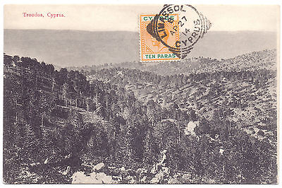 1244. Cyprus, Zypern,Chypre used post card Troodos by Foscolo 1914
