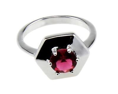 Garnet Birthstone Jewelry 18K Gold Filled Rings for Wedding Bands size8.5 di