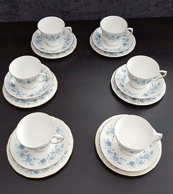Colclough Braganza  6 x Trios of Cup, saucer and tea plate