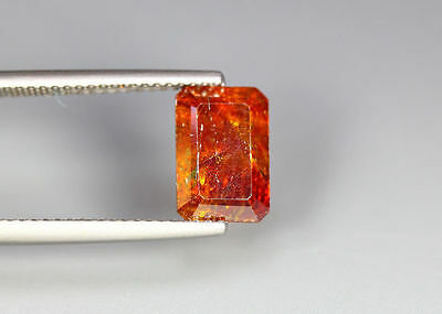 3.61 Cts _Wow !! Unbelivable Hot Sale_100 % Natural Sphalerite_Sunset Orange !!