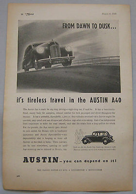 1948 Austin A40 Original advert No.2