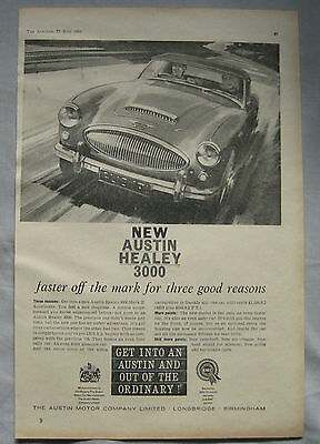 1961 Austin Healey 3000 Original advert No.1