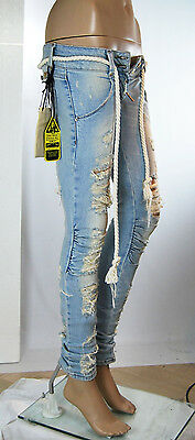 Jeans Donna Pantaloni MET Made in Italy Slim Fit Curly SA245 Tg 24 veste 23/24
