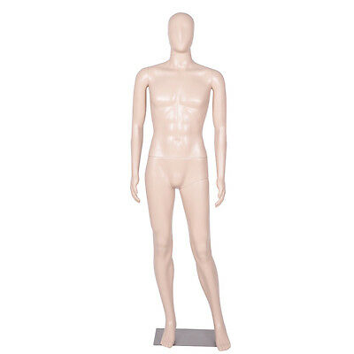Male Mannequin Egghead Plastic Realistic Display Dress Form Full Body w/ Base
