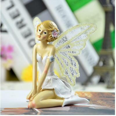 Kneeling Angel Figurine Home Baking Cake Fairy Girl Angel Statue Party Decor