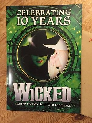 Wicked the musical Limited Edition Souvenir Brochure Celebrating 10 Years