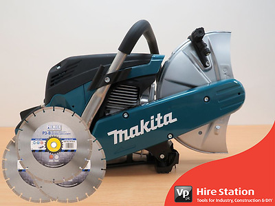 New Makita EK6100 Petrol Disc Cutter 300mm + 3 FREE BLADES!