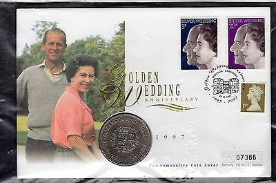 GB 1997 Royal Golden Wedding Anniversary Coin Cover 10175