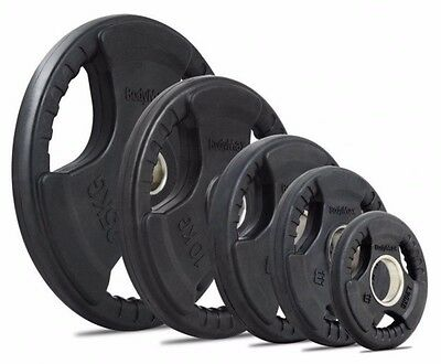 16 x BODYMAX OLYMPIC RUBBER RADIAL TRI-GRIP WEIGHT PLATES 150kg
