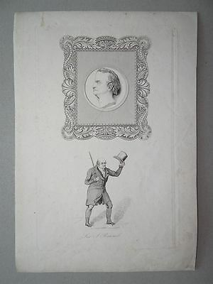 Marc Isambard Brunel Portrait Ingenieur Themse Tunnel Lithographie 19. Jh.